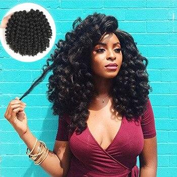 Jamajski Bounce szydełkowe włosy warkocze szydełkowe w stylu ombre syntetyczne plecionki kręcone szydełkowe Twist przedłużanie włosów 8 Cal włosy blond