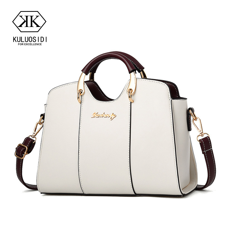 Brand Fashion Female  Bag Women Leather Handbag Vintage Messenger Bag Letter Shoulder Bags Women Bag(China)