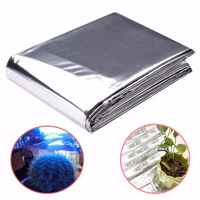Silver 82x51 Inch Plant Hydroponic Highly Reflective Film Grow Light Accessories Greenhouse Reflectance Coating Plant Covers