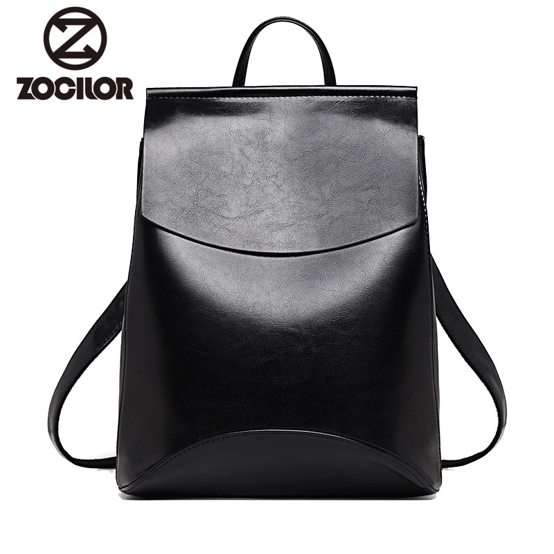 shop with crypto buy Zocilor Leather Bagpack for Women pay with bitcoin