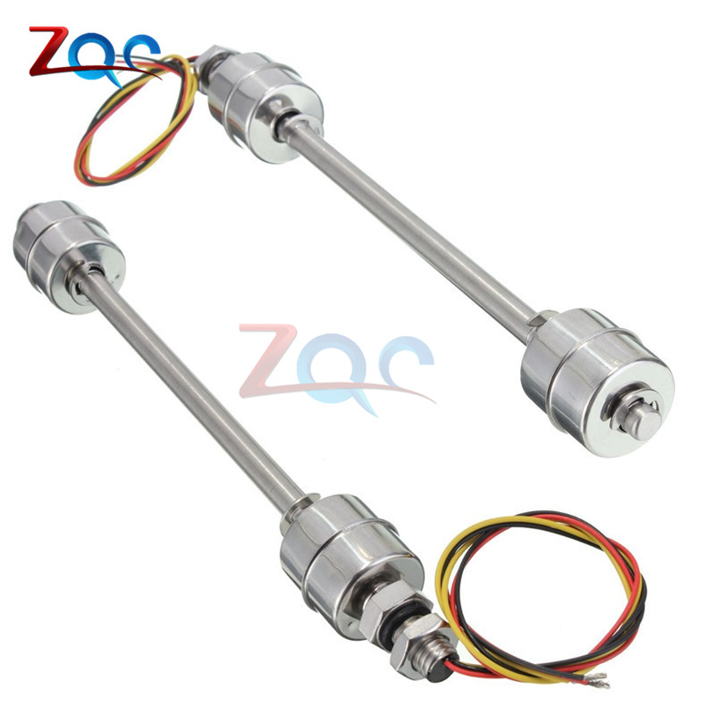 200mm Liquid Float Switch Water Level Sensor Stainless Steel Double Ball mj uqk 6 mini submersible pump with float switch small flow high chemical resistance oil tank level switch liquid level sensor