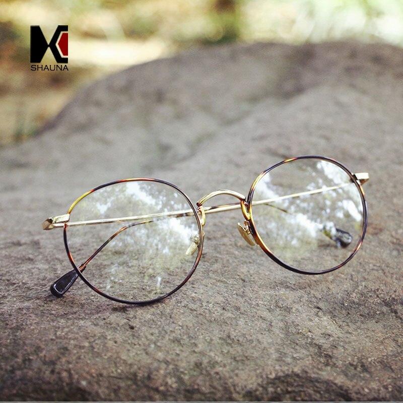 SHAUNA Neue Frauen Metall Runde Brille Rahmen Marke Designer Männer ...