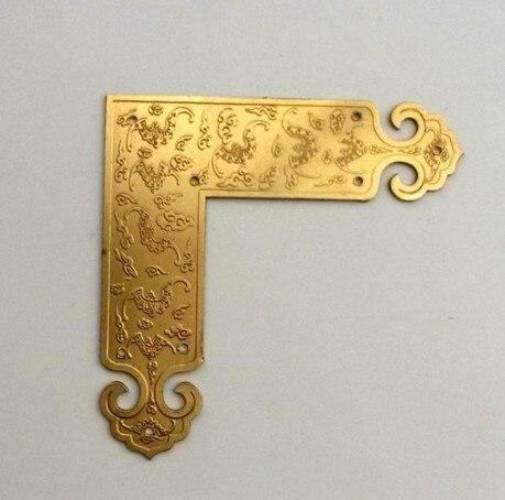 Corner Brackets Chinese antique furniture hardware copper angle