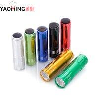 100 PCS Pocket Flashlights 9 Cree Mini Led Flashlights Tactical Waterproof Portable Outdoor Lighting Mini Torches By AAA