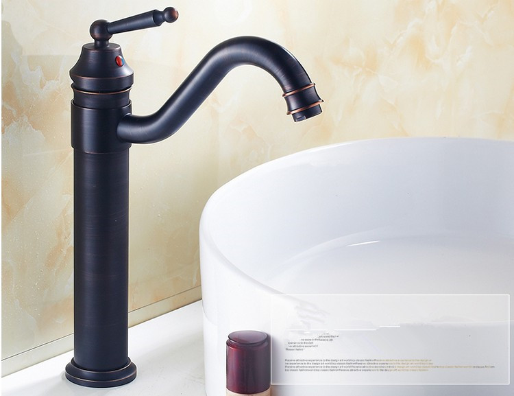 7 Faucet Finishes For Fabulous Bathrooms: Vintage Art Antique Brass Black Finishing Tap/Europe
