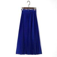 Long Pleated Skirts Womens 2017 Bohemia Style Summer Skirt Ladies Elegant High Waist Maxi Chiffon Skirt
