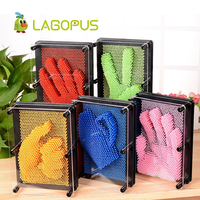 lagopus Novelty 3D CLONE Fingerprint Antistress Shape Hand Face Model Plastic Funny Toys Extra Large Needle Painting for Kids