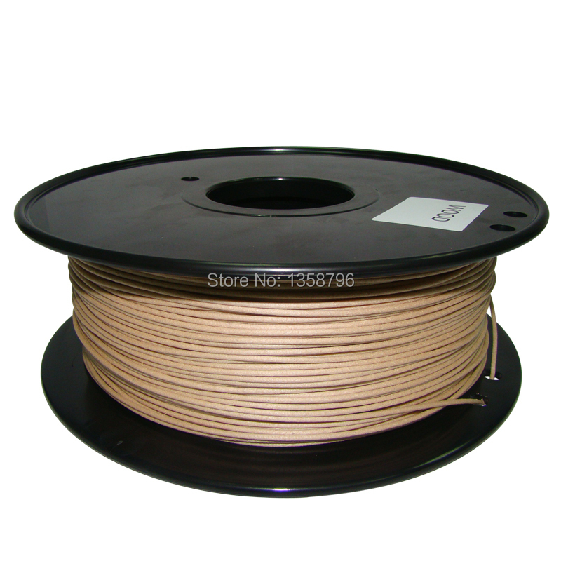 wood color 3d printer filaments Wood 1 75mm 3mm 0 8kg plastic Rubber Consumables Material MakerBot