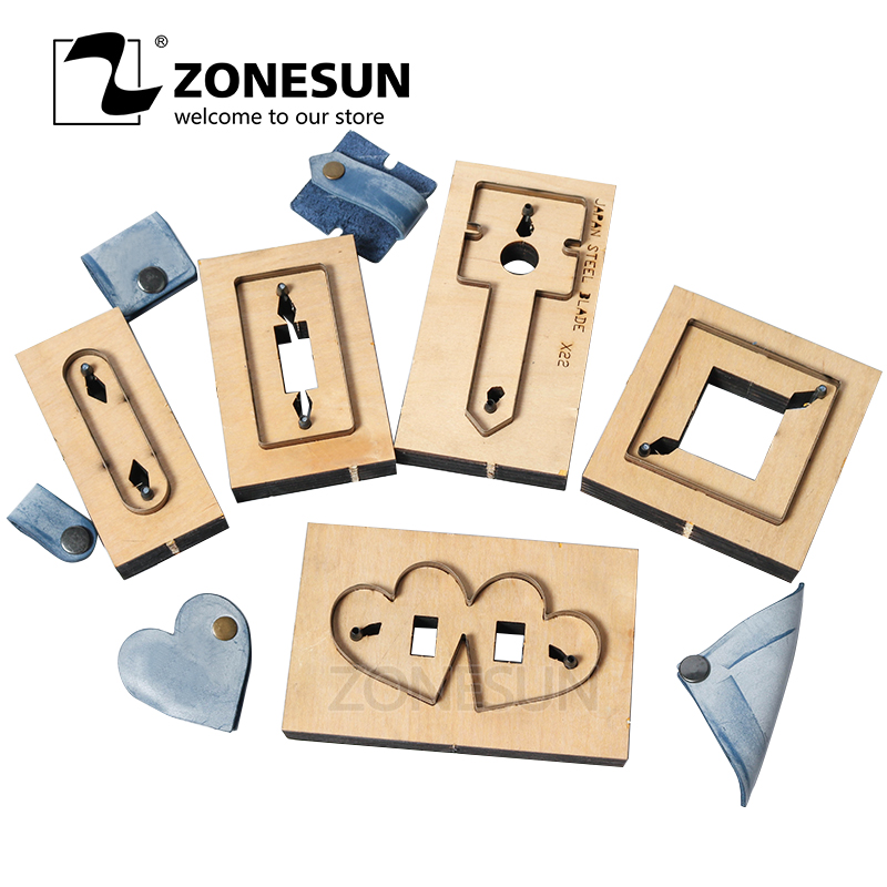 ZONESUN DIY Gift Earphone Leather Cord Keeper Organizer Cable Holder Protector Power Cord Winder Cutting Die