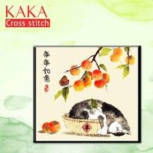 Kaka наборы для вышивки крестом 5d diy картина с животными домашний