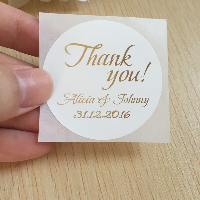 Wedding personalised name label happy birthday party thank you favors bag decoration stickers customized envelops seals