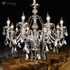 Retro Candlestick Led Chandelier European Royal Style In 2015 New Pendentes De Cristal Para Sala De