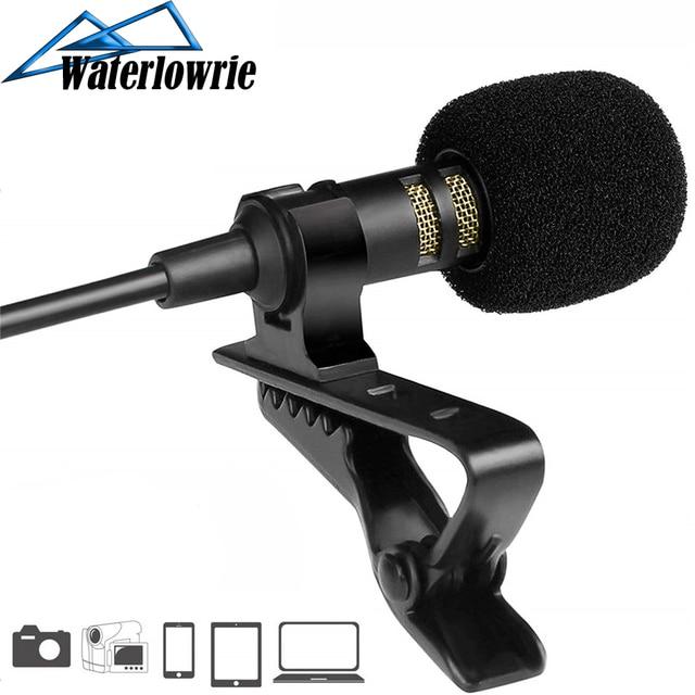 PC / Phone / Camera Mini USB Microphone Portable External Buttonhole Microphone Lapel Lavalier Mic for iPhone Laptop DSLR Camera