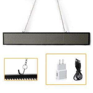 """Image 3 - 50 ס""""מ 16*96 Pixe LED סימנים P5mm SMD WIFI אלחוטי או USB לתכנות גלילה מידע הודעה פרסום תצוגה לוח"""