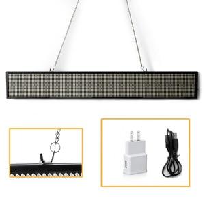 Image 3 - 50 см 16*96Pixe светодиодные знаки P5mm SMD WIFI Беспроводная или USB программируемая прокрутка информационные сообщения рекламная панель
