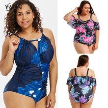 plus size swimwear women tankini Push up swimsuit with skirt Brazilian sexy bikinis 2019 micro bikini new one piece 4XL