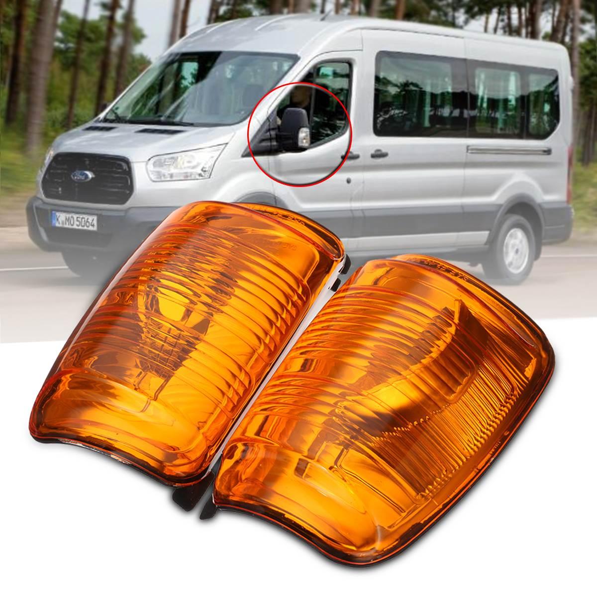 Car Door Wing Mirror Indicator Lens Right Left Side Passenger 1847389 For Ford Transit MK8 2014 Onwards