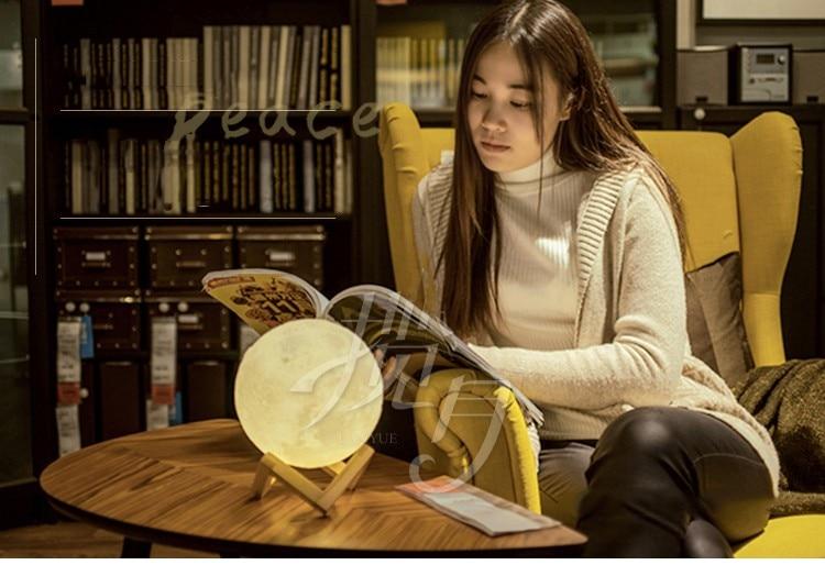 3D afdrukken maan nachtlampje lamp opladen luna light best gift ronde licht gratis verzending