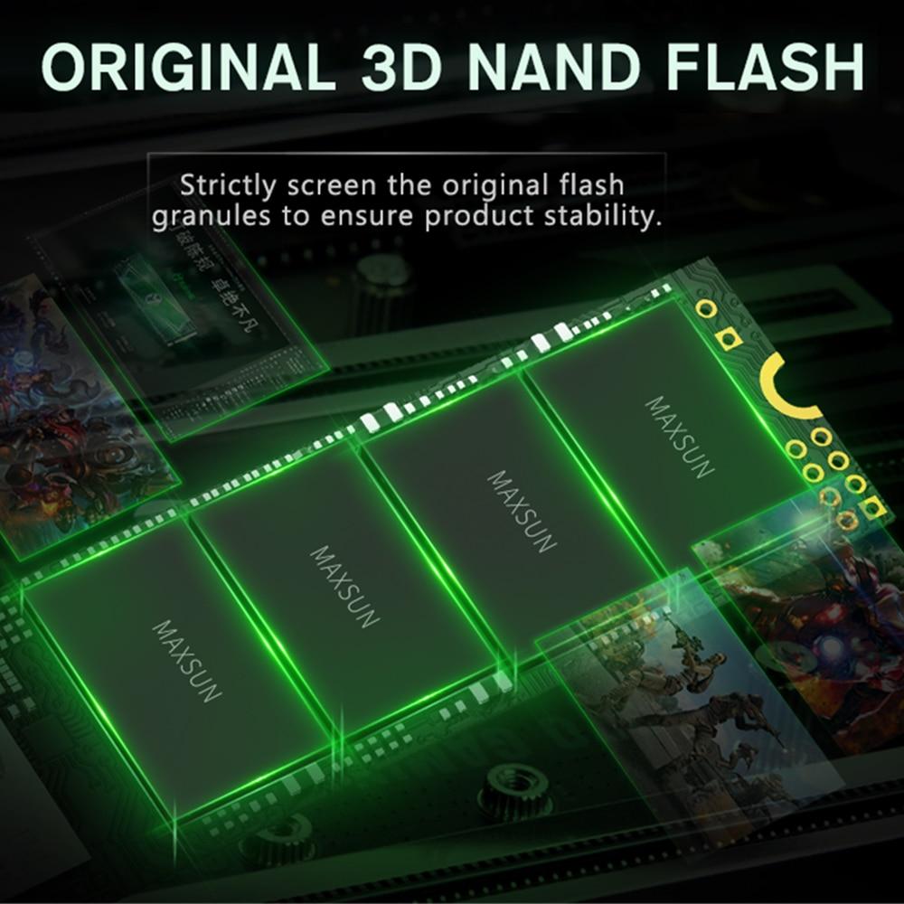 MAXSUN ssd M2 Avenger m.2 SSD M.2-2280 3D NAND Flash SMI 2263XT Internal Solid State Drives for pc desktop 1