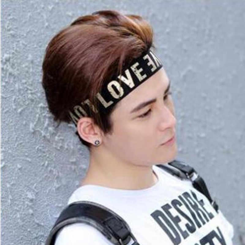 新しい文字を印刷ヘッドバンド女性/男性フィットネスカチューシャ弾性男性ヘアヘッドバンドランニングヘアアクセサリー在庫