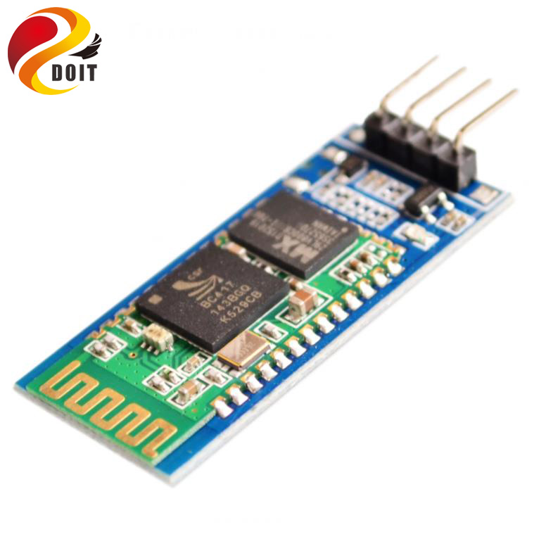 Official DOIT HC06 HC-06 Wireless Serial 4 Pin Bluetooth RF Transceiver Module RS232 TTL for Arduino bluetooth module  free shipping 5pcs serial rs232 ttl hc 05 30ft wireless bluetooth rf transceiver module 2 in 1