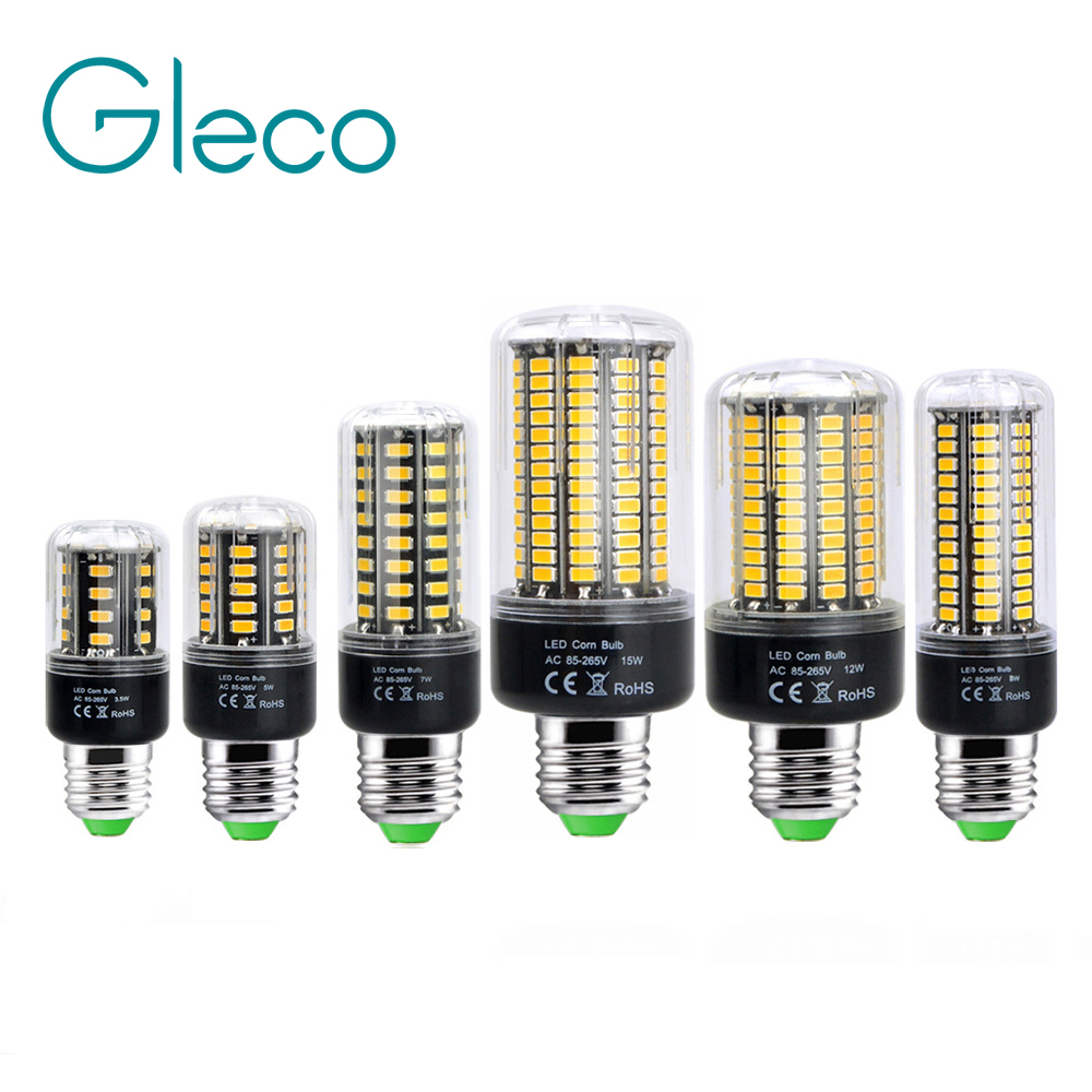 Aluminum E27 E14 LED Corn Bulb 85-265V High Brightness 5736 SMD LED Corn Light 3W 5W 7W 9W 12W 15W No Flicker Chandelier Light beilai 5736 smd lampada led lamp e27 220v corn light e14 led bulbs 3w 5w 7w 9w 12w 15w candle spotlight luz chandelier