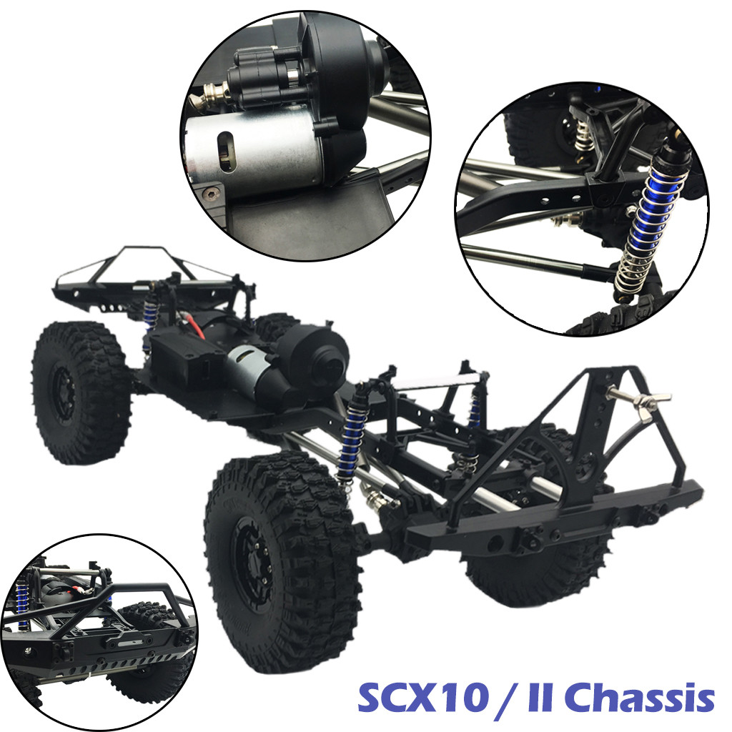 Assembled frame chassis for 1/10 RC axial SCX10 / II 90046 90047 313mm wheelbase frame rail adjustable wheelbaseAssembled frame chassis for 1/10 RC axial SCX10 / II 90046 90047 313mm wheelbase frame rail adjustable wheelbase