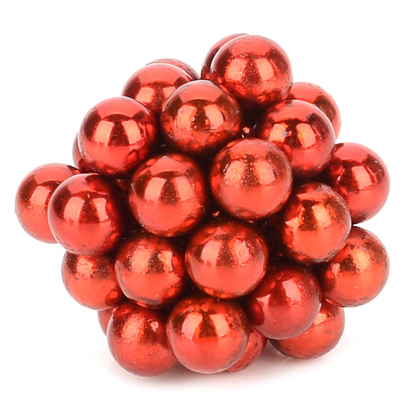 5mm NdFeB Magnetic Ball DIY Toys Set - Red (40 PCS) ND-FE-B round strong magnetic sheet rectangular magnets with holes