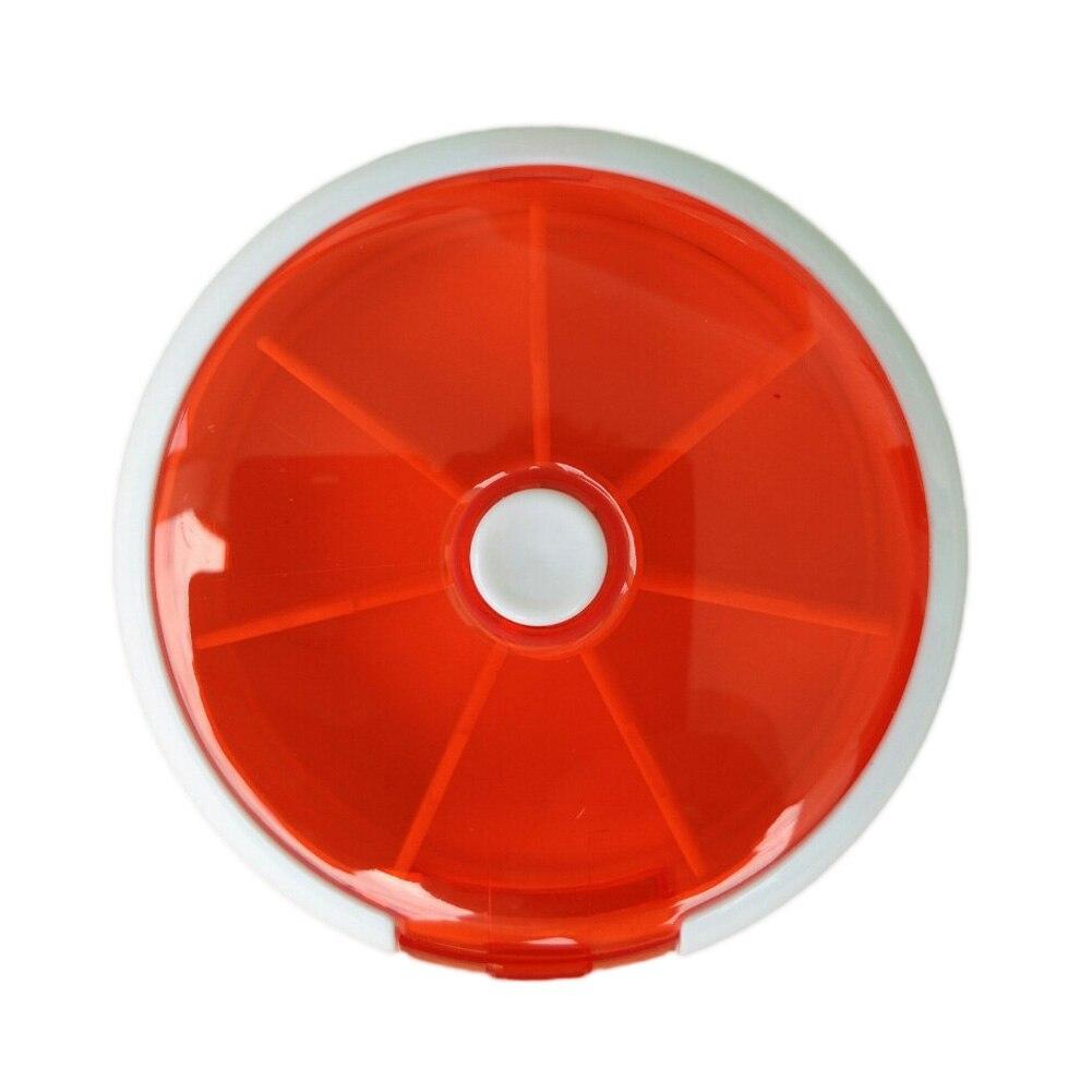Высокое качество Красочные 7-сетки Портативный Pill случаях автоматически поворачивать довольно фрукты мини-таблетки коробка для хранения