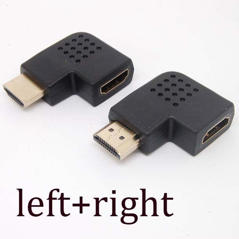 High Quality HD 1080P Male to Female HDMI Adapter Converter 90 Degrees Angle Turn Right / Left HDMI Connector gold plated right angle hdmi male to female adapter converter