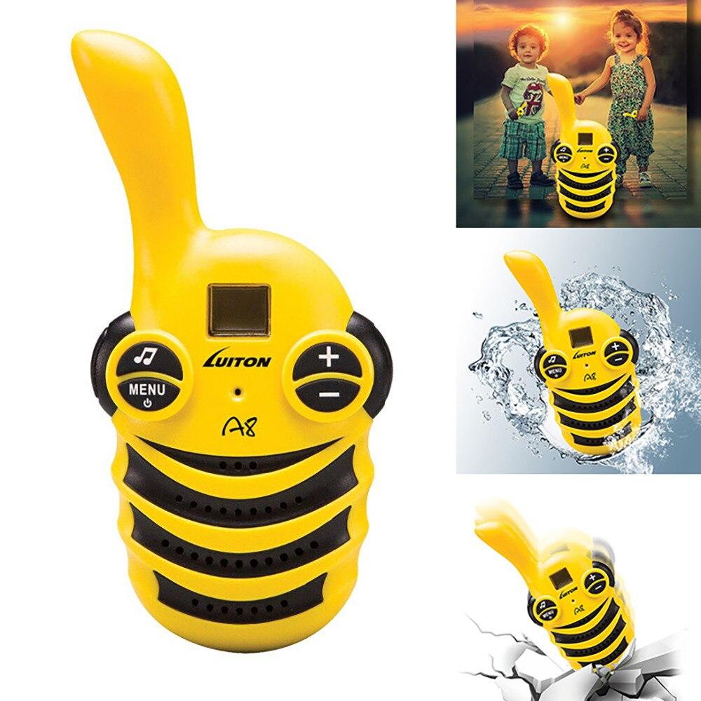 CARPRIE Talkie-walkie 2 pièces MINI Enfants Talkie-walkie UHF Portable Radio Bidirectionnelle Radio FM 8D1107 livraison directe
