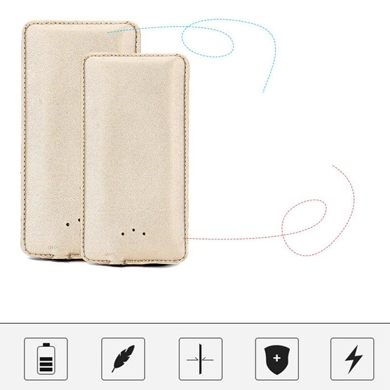 Ultra-mince Batterie Cas Chargeur pour HUAWEI Honor 9 8 7 6 5 4 3 4C Pro compagnon P 10 Plus Lite NOVA 2 Mobile téléphone banque D'alimentation de secours - 3