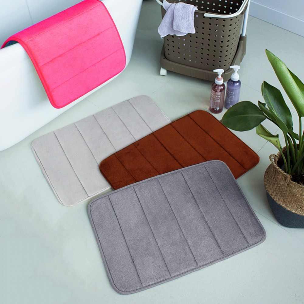 Прямая поставка 40*60 см для ванной коврик для ванной ковры коралловый флис пены памяти ванная комната коврики кухня двери пол tapis de bain
