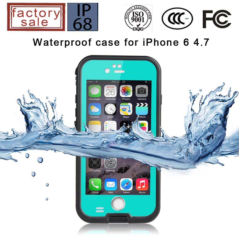 30 unids/lote Original Redpepper XLF series caso impermeable para iphone 6s iphone 6splus con la impresión de dedo Capabilty