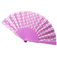 8 colores bambú plegable mano Fans boda chino japonés ventilador niños China antiguo plegable ventilador regalo eventail una vendimia principal(China)