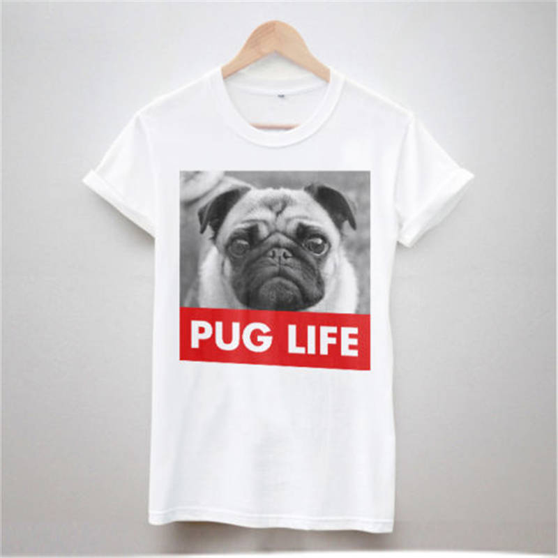 Clothing Plus Size S M L Xl Xxl WomenS Short Pug Life O-Neck Christmas Shirt ...