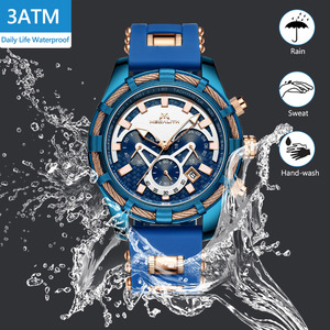 Image 3 - ¡Venta al por mayor! Reloj MEGALITH deportivo para hombre, correa de silicona impermeable, cronógrafo, relojes de pulsera de cuarzo, reloj Masculino con caja