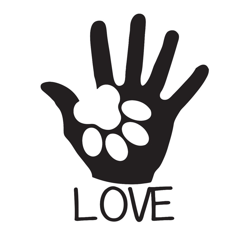 HotMeiNi 15*12CM Cute Puppy Love Dog Sticker Paw Print Vinyl Decal For Car Window Fuel Tank Cap Phone Laptop Kid