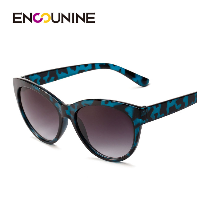 552072161ea ENSUNINE Brand Designer Cat Eye Blue Tortoiseshell Women Sunglasses PC  Frame Vintage Retro Sunglasses Sun Glass Eyewear New HD