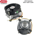 1pcs Hot 20W 30W 50w 100w high power led heatsink led DC 12V led cooling fan led high power bulb radiator with lens