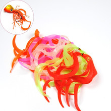 50PCS Multiple Color Silicone Skirts Streamer Spinnerbait Buzzbait Rubber Jig Lures Squid Fly Fishing Tying Material
