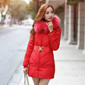 2016 Winter Cotton Padded Jacket Women Long Coat Parkas Thickening Female Warm Clothes Faux Fur Collar High Quality Overcoat