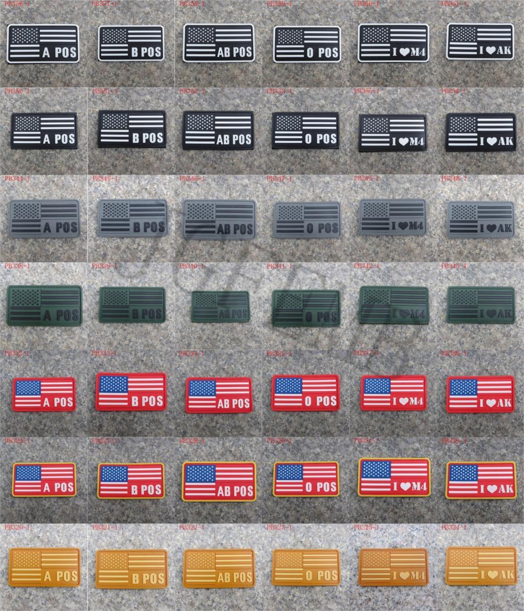 USA California flag 3D PVC Patch 8cm*5cm JGF2005