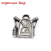 Hot ! 10pcs Antique silver zinc alloy Backpack Charm Pendants DIY Jewelry  16.5 x 17 mm nm189