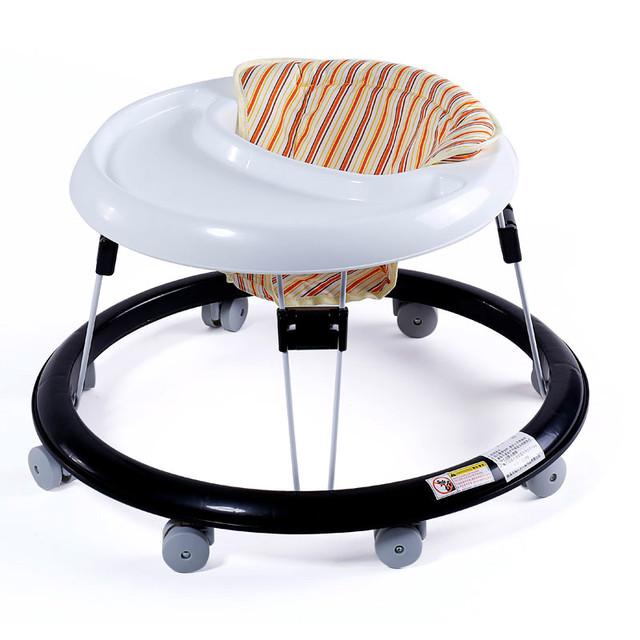 Rollover equilibrio redonda plegable andador bebé multifuncional walker envío gratis