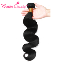 Wonder Beauty Hair Malaysian Body Wave Remy Hair Bundles Natural Color 100% Human Hair Weaving 10-26 inch Free Shipping