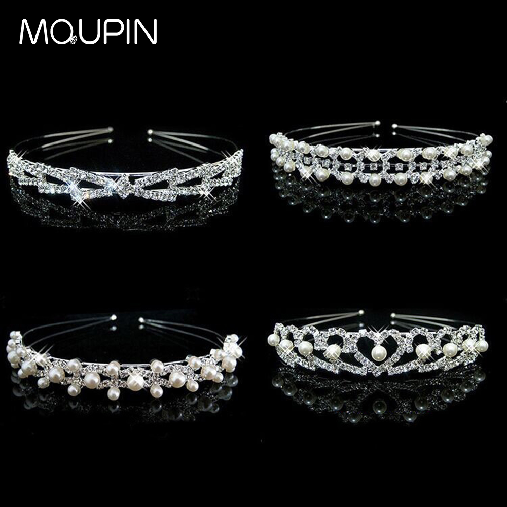 MQUPIN Imitation Pearl multi style available Crystal Princess hair accessories Rhinestone Bridesmaid Bride party decoration