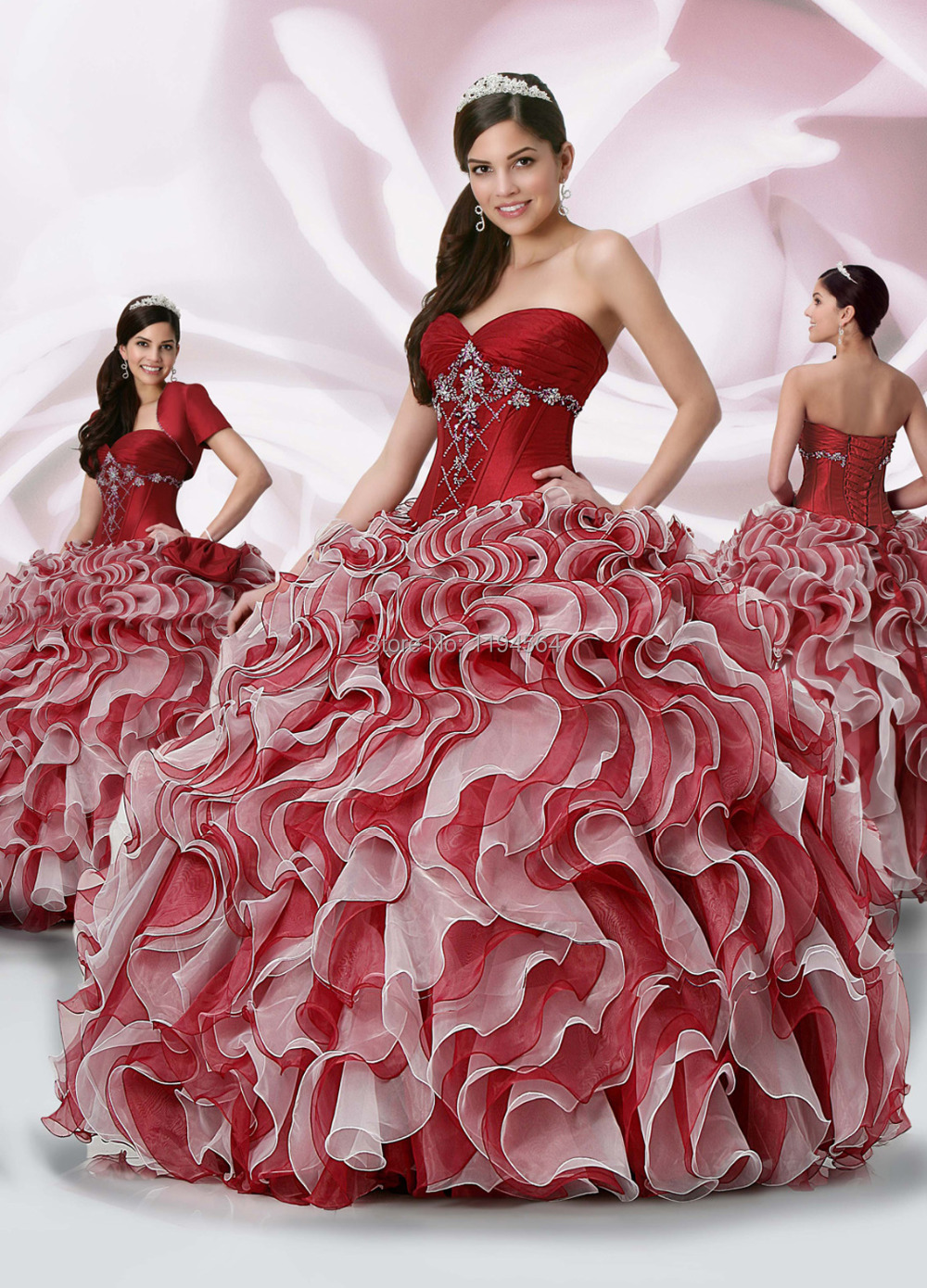 Online Buy Wholesale wine red quinceanera dresses from China wine ...