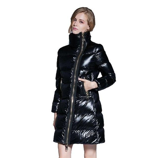 Venda quente das Mulheres Para Baixo Casaco Jaqueta de Inverno 2017 Nova Moda senhoras Longas Jaquetas Femininas Casacos Quentes de Espessura Sólida Fino Roupas Y371
