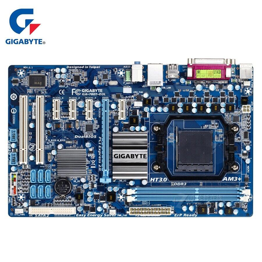Carte Mère Gigabyte GA-780T-D3L 100% D'origine 90% Nouveau DDR3 Ordinateur De Bureau Carte Mère Planches 760g 780T-D3L Prise CPU AM3 + 780 t